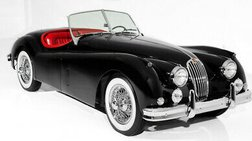 1956 Jaguar XK Black/Red Roadster Stunning