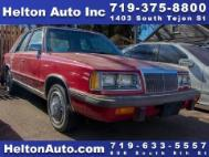 1986 Chrysler Le Baron Base