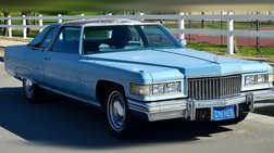 1975 Cadillac DeVille Coupe-Low Miles-Clean-Runs Great-Rare Barn Find