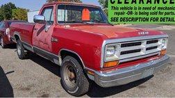 1989 Dodge RAM 100 Base