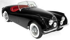 1953 Jaguar XK Black/Red Extraordinary