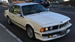 1988 BMW 6 Series 633CSi