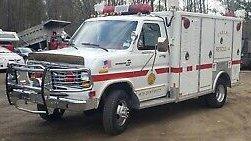 1985 Ford E-350 E350 Quigley 4x4 Conversion Rescue/Ambulance Body Van