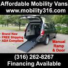 2019 Dodge Caravan Wheelchair Handicap Mobility Van with Ramp